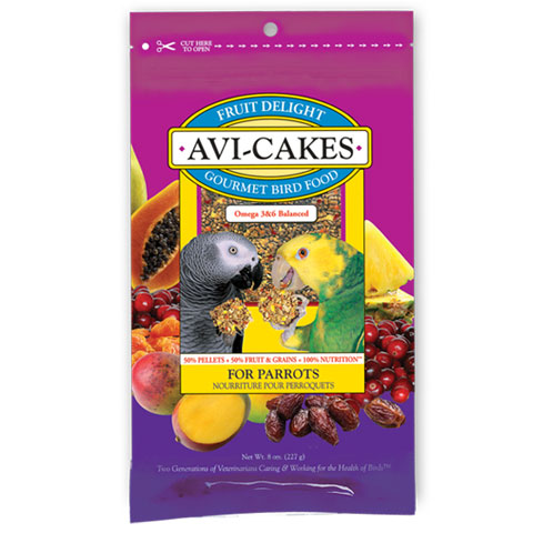Fruit Delight Avi-Cakes for parrots